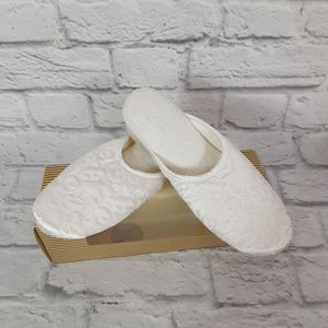 Isotoner collection quilted satin slippers